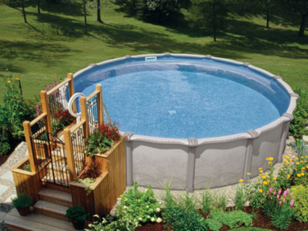 Above ground pools maurice pools spas - Images of above ground pools ...